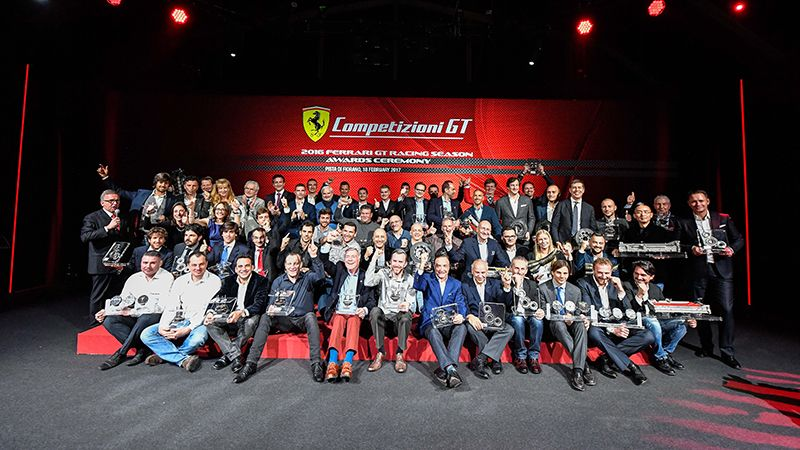 Pier Guidi debuts among champions – The new official driver introduced at the Competizioni GT awards ceremony